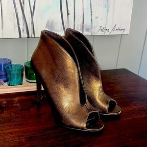 Fergie Metallic Peep Toe Pumps